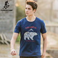 Pioneer Camp brand clothing 2017 new fashion mens t shirt shorts animal print 100% cotton loose o-neck male t-shirt 622049