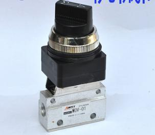 free shipping 1pc 1/8 Inch Pneumatic Selector Mechanical Valve , MOV - 01 Hand Control Air Valve , 2 position 3 way 1 8 inch pneumatic selector mechanical valve mov 01 hand control air valve 2 position 3 way
