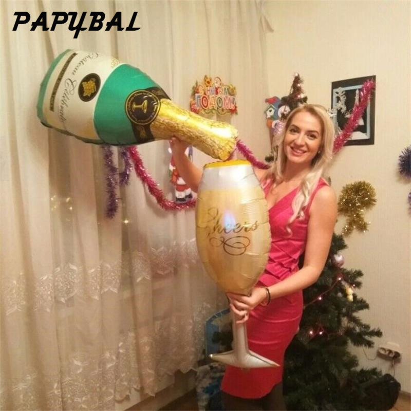 PAPYBAL Cheer Cup Celebration Bröllopsballonger Champagne Helium - Semester och fester - Foto 5