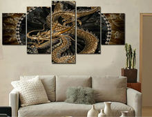 5 Panel Waterfall Painting Canvas Wall Art Picture Home Decoration Living Room Canvas Print Painting–Large Canvas Art s109