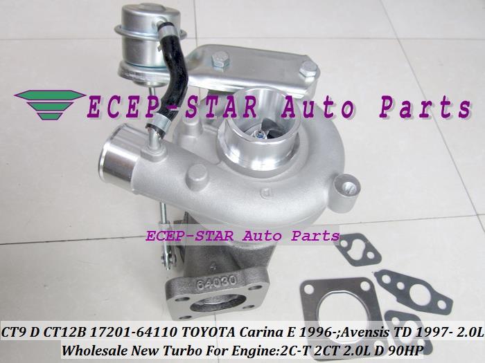 CT9 CT12B 17201-64110 17201 64110 1720164110 Turbo Turbocharger For TOYOTA Carina E 1996- Avensis TD 1997- 2C-T 2CT 2.0L D 90HP