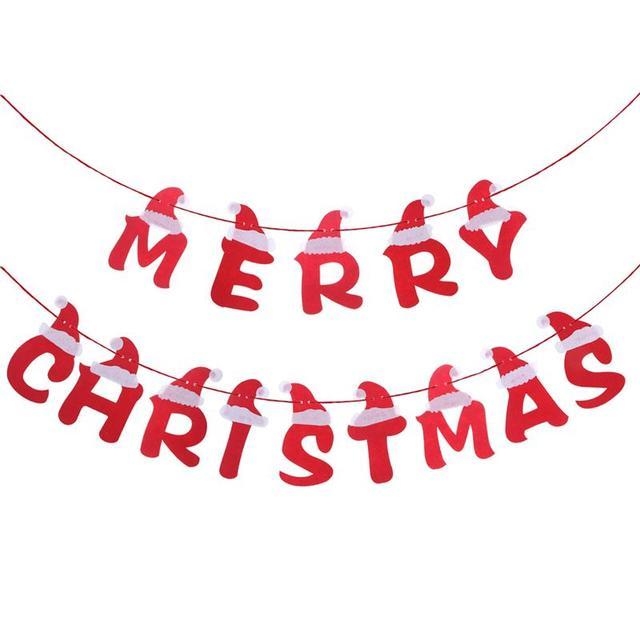 Decorazioni Di Natale Disegni.3 5 M Lettera Di Buon Natale Banner Decorazione Con Cappello Da