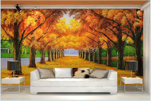 Buy photo wallpaper classic fashion 3d for Black and white forest wall mural