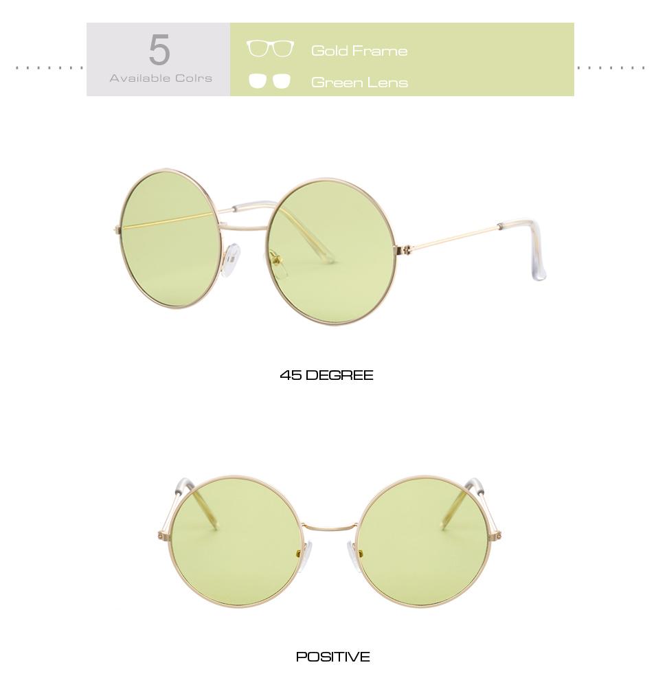 Women's Round Mirror Sunglasses 14