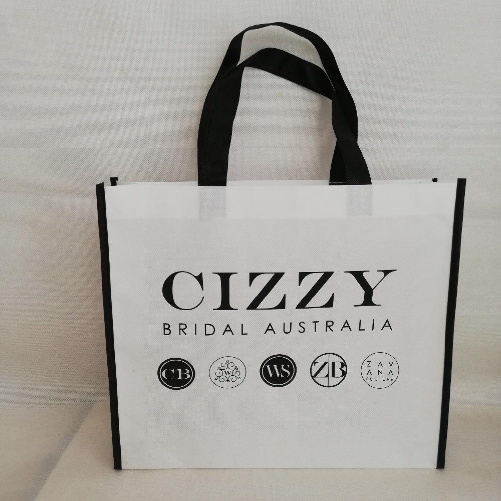 500pcs Lot Reusable Non Woven Shopping Tote Bag Promotional Bag With Custom Logo Free Shipping Giveaway Gift Handbags Wholesales Bag Non Woven Reusable Bagreusable Bags Wholesale Aliexpress