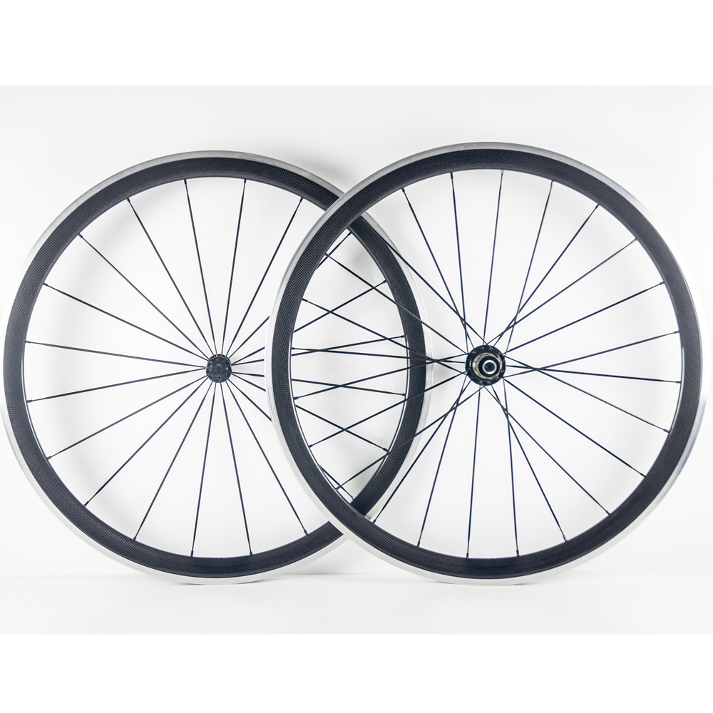 38mm Carbon Wheels Clincher With Alloy Brake Surface Novatec Hub Road Bike Carbon Wheelset Aluminum Braking Surface gub aluminum v brake road bike wheels 42mm cheap wheels with alloy brake surface clincher wheelset 700c 10 11speed compatible