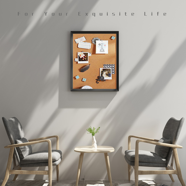 A3 mantar pano renkli MDF ahşap çerçeve fotoğrafları bülten tahtası mesaj hatırlatıcı panosu 30*40cm mantar Pin panoları ev aksesuarları ile
