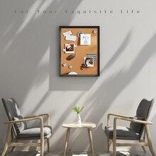 Tablero de corcho A3, tablero de madera MDF colorida para fotos con Marco, tablón de anuncios, tablero de notas para mensajes, tableros de pines de corcho de 30*40cm para el hogar con accesorios