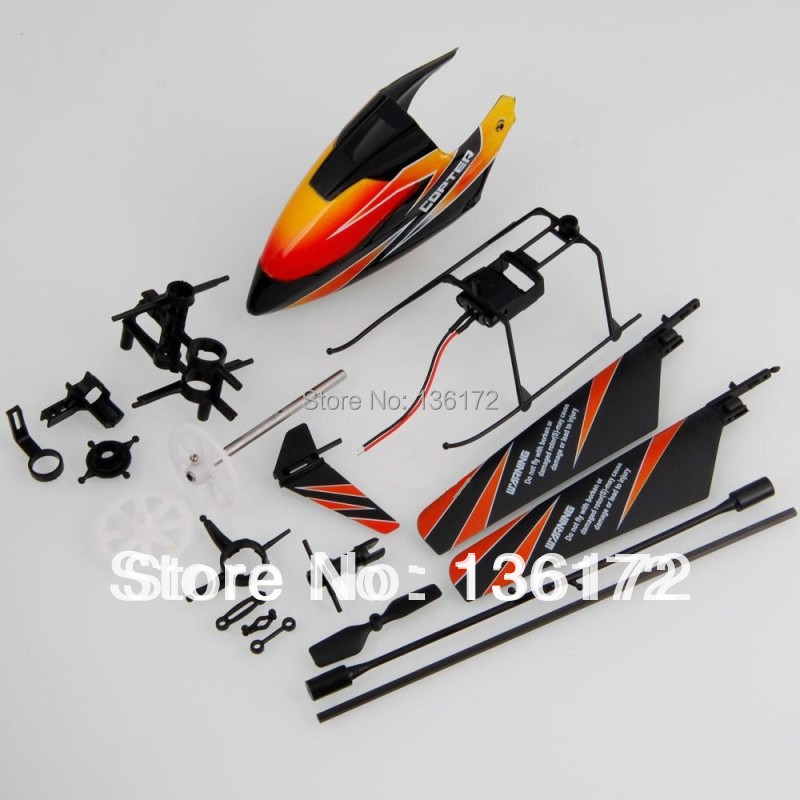 Ewellsold WL V911 2.4G 4Ch RC Helicopter Spare Parts Accessories Set  replacemets V911-001 18pcs/set  free shipping