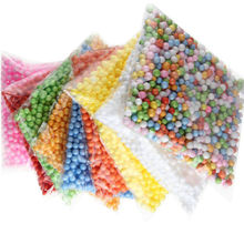 HOT Fashion Decorative Ranbow Assorted Color Polystyrene Styrofoam Filler Foam Mini Beads Balls DIY Decoration