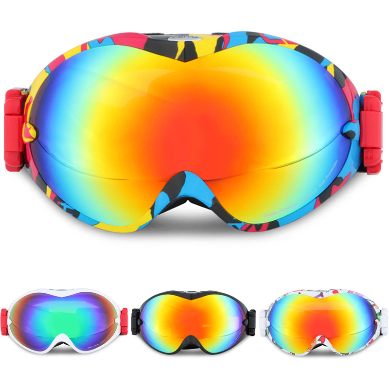 Outdoor Professional Men Or Women Snow Goggle Windproof Double Anti-fog UV Mirror Skiing Eyewear Snowboarding Glasses And Box