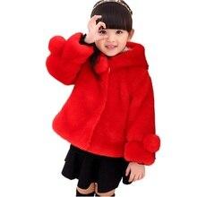 2016 Girls Faux Fur Coat New kids Children BabyWarm Parent child Thickened Coat Children s Winter