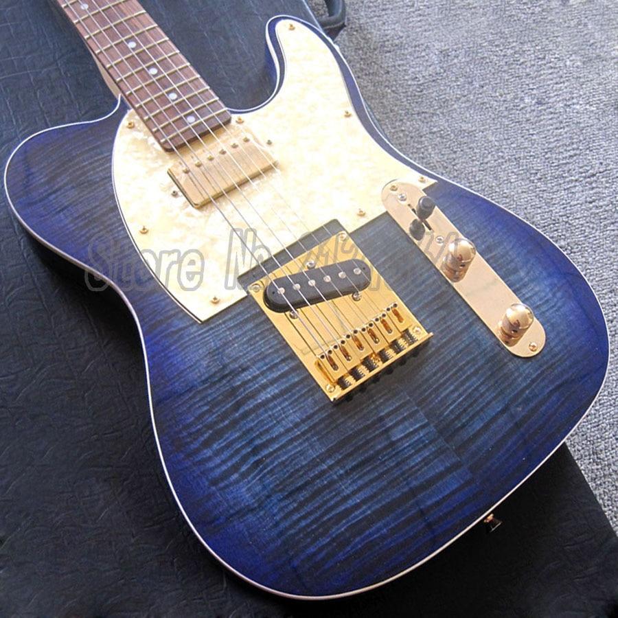 TL GUITARS Gold Hardware Costom E-Gitarren Shop Blaue Farbe Körper China Waren Freies Verschiffen