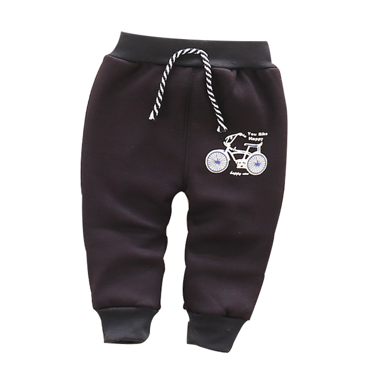 Autumn and winter and warm baby pants 1 piece cotton cartoon bicycle baby pants 0-3 year baby boy girls pants
