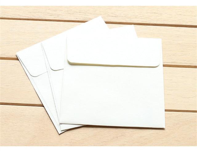3 pcs/paquet Vintage rétro enveloppe couleur unie petites 10*10 cm Kraft papier enveloppes pour carte cadeau Scrapbooking Papeleria sl1416