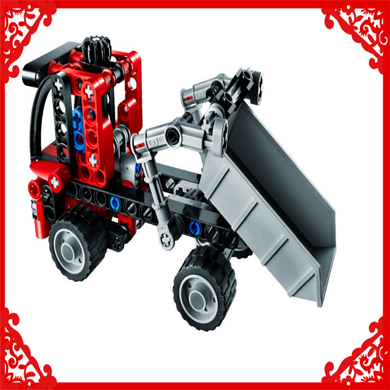 Decool 3345 Technic City Series Mini Container Truck 119Pcs Building Block Educational  Toys For Children Compatible Legoe decool 3114 city creator 3in1 vehicle transporter building block 264pcs diy educational toys for children compatible legoe