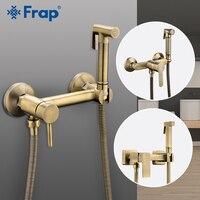 FARP Bidets bronze shower head wash hygienic shower sprayer anal cleaning hot & cold mixer bidet toilet spray kit bidet spray