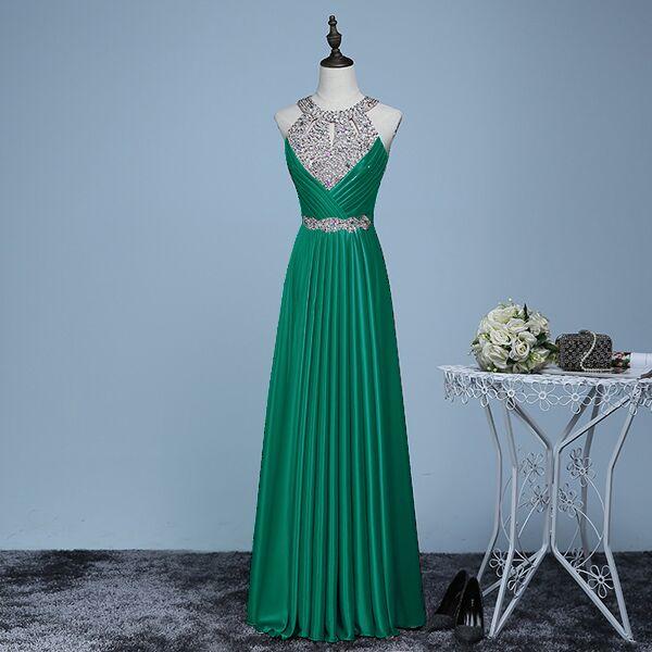 Вечернее платье,, длина до пола, сатиновые Сексуальные вечерние платья для выпускного вечера, элегантные длинные вечерние платья - Цвет: dark green