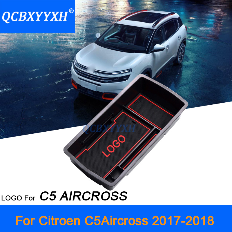 QCBXYYXH Styling For Citroen C5 AIRCROSS 2017 2018 font b Car b font Center Console Armrest