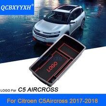 QCBXYYXH Стайлинг для Citroen C5 AIRCROSS 2017-2018 автомобиль центральной консоли подлокотник коробка для хранения охватывает интерьера аксессуар