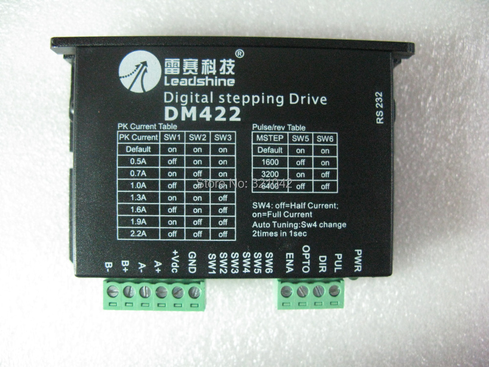 Leadshine 2-phase DM422 Digital Stepper Motor Drives work 24-40VDC/out 2.2A Fit for the size NEMA 14 -17 Stepper motor vexta five phase stepper drives