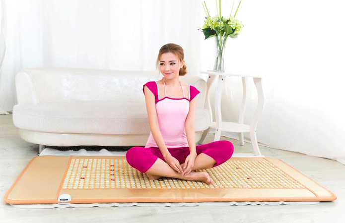 Hot Sale Health Care Natural Jade Cushion Beauty Jade Mattress Germanium Stone Far Infrared Heating Mattress Size 70cmX180cm 2 sets ball the plum flower jade handball furnishing articles hand bead natural jade health care gifts