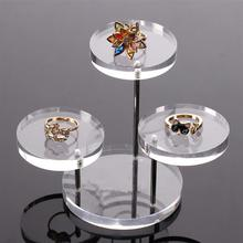 3 Tray Stands Clear Acrylic Jewelry Organizer Watch Display Boxes Holder Rack Box for Earring Bracelet Necklace