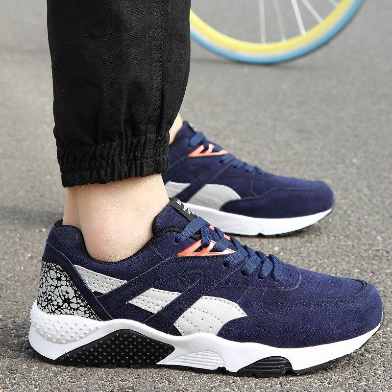 Лидер продаж 2019 года, всесезонные уличные кроссовки, мужская повседневная обувь на шнуровке, Прогулочные кроссовки на плоской подошве, ...