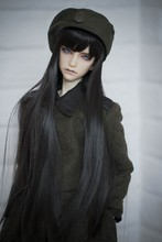 цена на BJD doll wigs black long straight hair available for 1/6 1/4 1/3 BJD DD SD doll accessories hair wigs