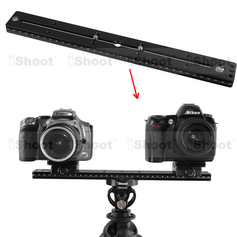 35cm Quick Release Plate QS-350 for Tripod Ball Head / iShoot Double-faced Clamp IS-SJZ50 / Telephoto Zoom Lens Holder IS-TB01