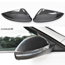 Car Side Mirror Caps Cover Car rear view Rearview Side Glass Mirror Cover Trim Frame For Volkswagen VW Jetta MK7 2019 цена и фото