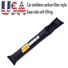 Exquisite embroidery American car emblem Carbon fiber style Seat crevice soft filling black Automotive interior car accessories american interior