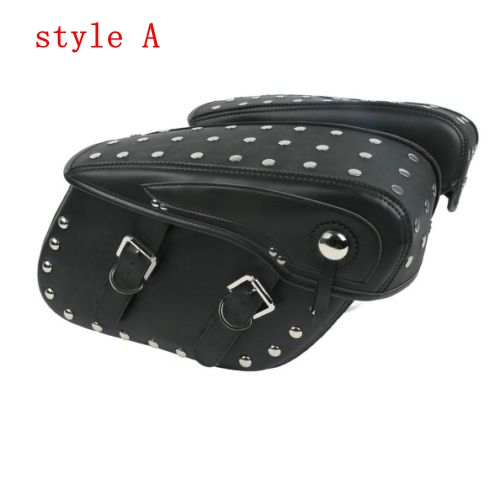Motorcycle PU Leather Saddlebags For Harley Sportster 883 1200 CVO Dyna Softail Chopper Street Bob Fat