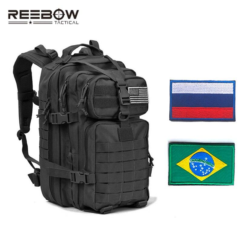 Sac à dos d'assaut militaire tactique de REEBOW avec des patchs de drapeau