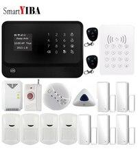SmartYIBA Wireless Wifi Alarm Security System IOS Android APP Control PIR Motion Door Open/Close Detector Blue Siren Alarm Kits