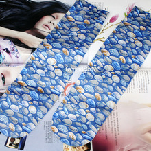 RUIN women's socks blue Color stone printing in the tube socks female and girl socks