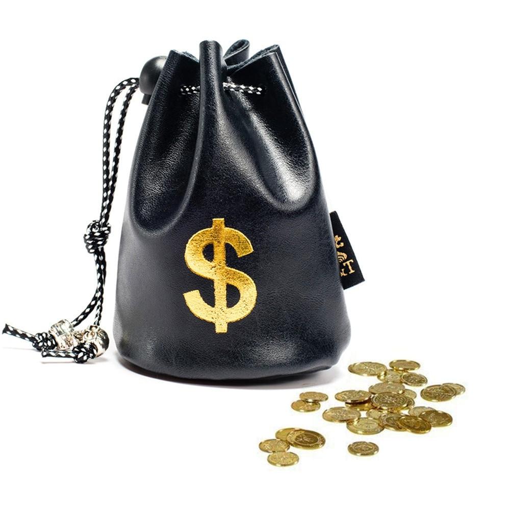Wholesale! 2019 New Women's Dollar Pound Currency Symbol Money Bag Lady Fashion PU Leather Bundle Drawstring Pocket Coin Bag