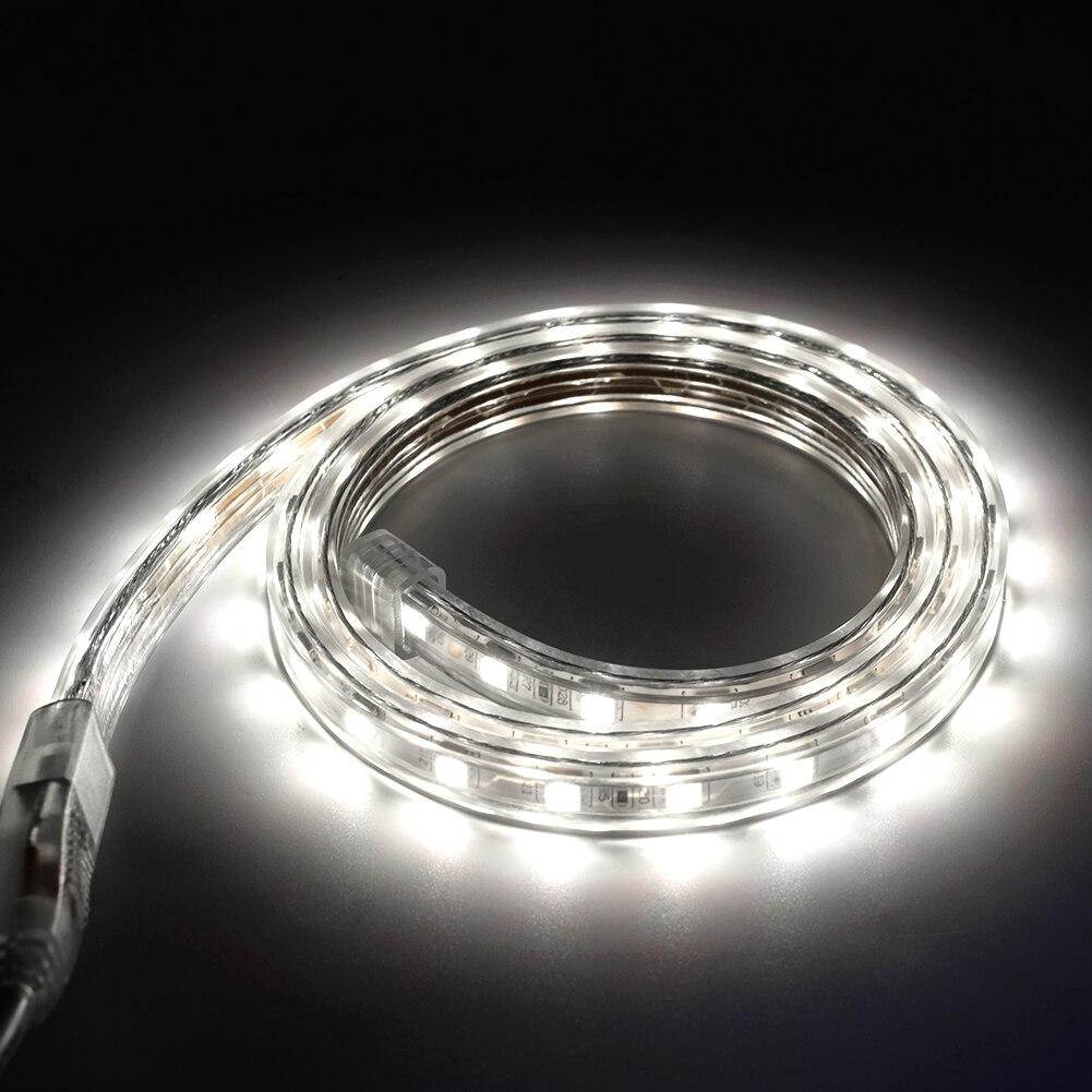 TSLEEN IP67 Водонепроницаемый Светодиодные ленты световая неоновая лента возможностью погружения на глубину до 30 м 100 м гибкий ТВ Светодиодные ленты 5050 SMD стандарта ЕС, США, Великобритании Plug бара отеля огни - 2