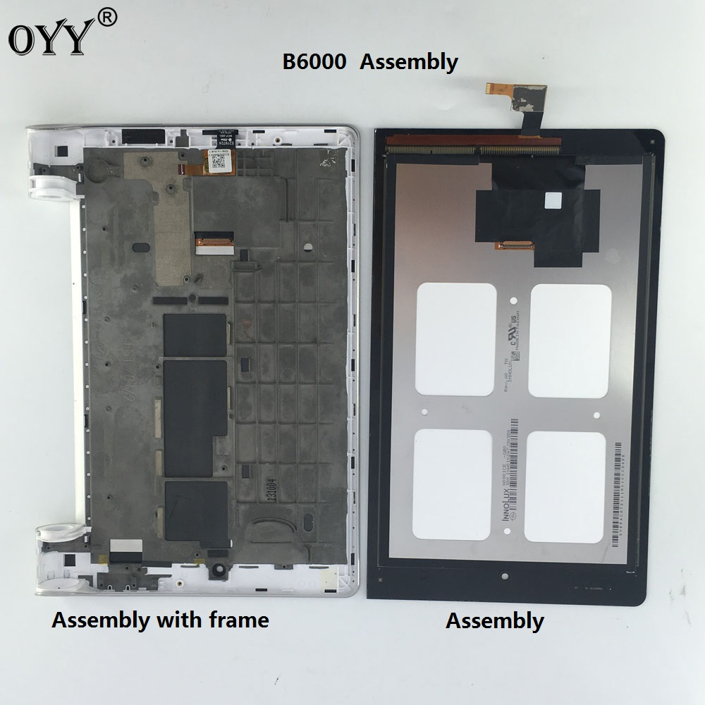 used LCD Display Panel Screen Monitor Touch Screen Digitizer Glass Assembly with frame  8 For Lenovo IdeaTab Yoga 8 B6000 for lenovo yoga tablet 2 1050 1050f 1050l new full lcd display monitor digitizer touch screen glass panel assembly replacement