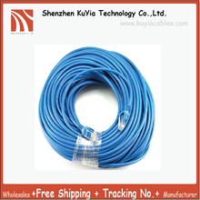 Free Shipping 15meter patch cable free gift RJ45 CAT5 CAT5E ETHERNET LAN NETWORK CABLE blue beige