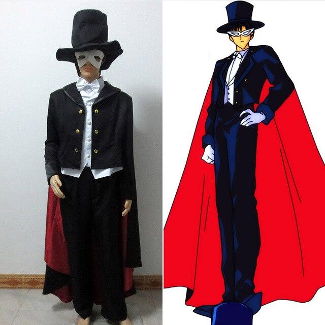 Sailor Moon X Tuxedo Mask: Sailor Moon Tuxedo Mask Mamoru Chiba Suit Cosplay Costume