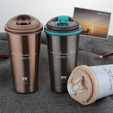 Double Wall Stainless Steel Coffee Mug Vacuum Flasks Thermocup Thermos Cup Tea Milk Travel Thermo Bottle Gifts