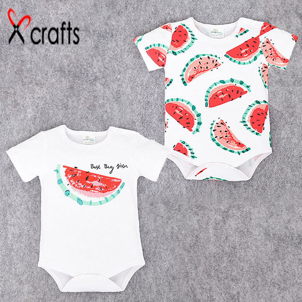 2017 new summer clothing baby baby watermelon triangle bodysuit soft cotton short sleeved Jumpsuit