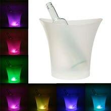 5L 7 Farben LED RGB Licht Veränderbare Eiskübel Champagner Wein Getränke Getränke Bier Eis Kühler Bar Party Tools
