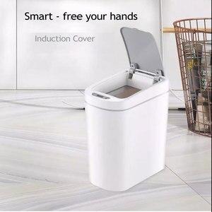 Image 2 - Ecofresh التلقائي Touchless الذكية مستشعر حركة بالأشعة تحت الحمراء سلة مهملات القمامة المطبخ حاوية القمامة