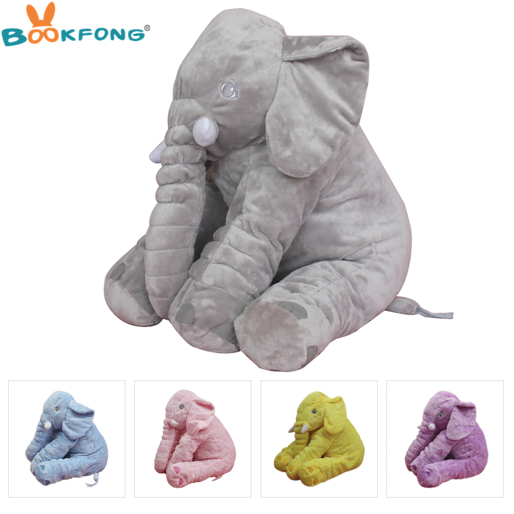 1pc Plush Elephant Doll Toy Kids Sleeping Back Cushion Soft Stuffed Elephant Baby Accompany Doll Toys