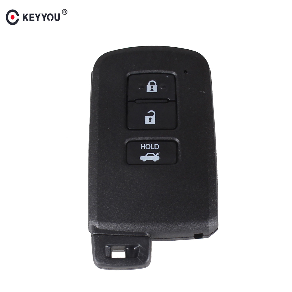 KEYYOU Replacement Remote <font><b>Key</b></font> Shell <font><b>Case</b></font> 3 Button For <font><b>Toyota</b></font> Avalon Camry <font><b>RAV4</b></font> 2012 2013 <font><b>2014</b></font> 2015 Smart <font><b>Key</b></font> Blade Fob Cover image