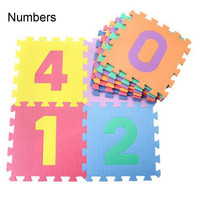 10 PCS 30 30cm Puzzle Carpet Baby Play Mat Floor Puzzle Mats EVA Developing Crawling Rugs