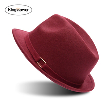 2016 New Vintage Fedoras Jewish Hat Snap Bow Classic Gentleman Cap Brand Cotton Wool Men Women Unisex high quality Panama Z9026