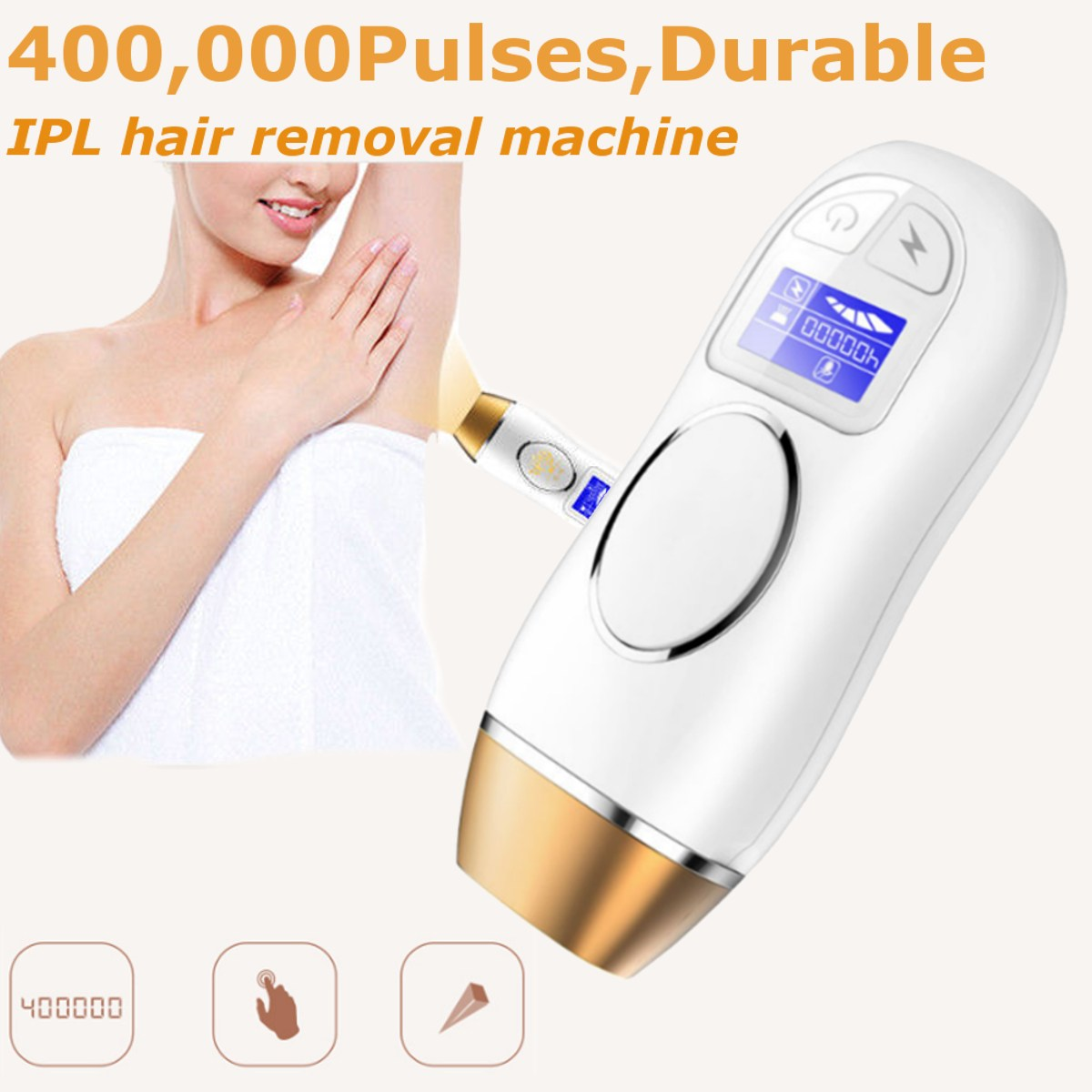 US $83 43 37% OFF|IPL Laser Permanent Hair Removal Machine 400000 Pulses  Electric Epilator Depilador For Facial Body Armpit Underarm Bikini Leg-in